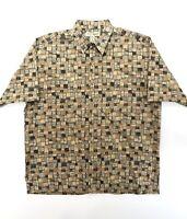 Tori Richard Men's Large Multi Color Cotton Lawn Honolulu Button Up Shirt