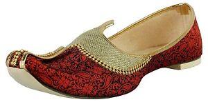 Handcrafted Hand Made Work Maroon Traditional Wedding Jutti Mojari ethnic shoe