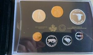 2017 COMMEMORATIVE PURE SILVER 7-COIN PROOF SET - 1967 CENTENNIAL COINS