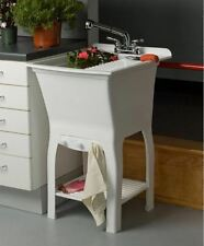 """FREE STANDING LAUNDRY SINK  20.5"""" Wide Utility Tub  ~ Includes Pull-Out Faucet ~"""