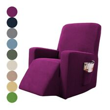 9 Colors Recliner Sofa Covers Plaid Slipcovers Soft Couch Protector With Pocket