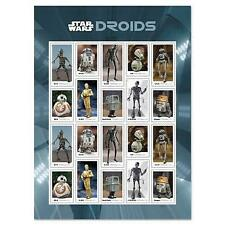 USPS NEW Star Wars Droids Stamps. (Shipping after May 5, 2021) Sheet of 20