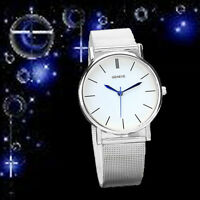 Neue Arraival Damen-Datum-Uhr Edelstahl Band Quarz Armbanduhren Watch