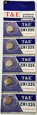 5x New CR1225 Lithium Battery 3V Button Battery 3 volts CR1225 Expires 12/2021