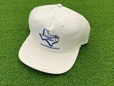 """RARE Vintage Texace """"Noswett"""" TEXAS GOLF HALL OF FAME THE WOODLANDS HAT WHITE"""