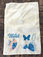 "Vintage Satin  ""Nities"" Satin Pillow Case   Butterflies 1950's"