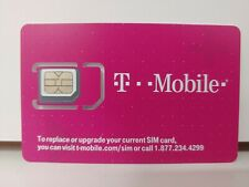 T-Mobile 4G LTE blank 3 in 1 Triple Cut Sim Card