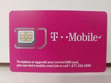 T-Mobile 4G Lte blank 3 in 1 Triple Cut Sim Card