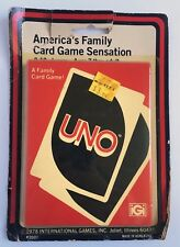Vintage 1978 Uno Card Game New Old Stock Retro Game Sealed