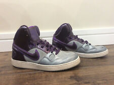 NIKE FORCE High Top Sneakers Womens Size 9 Shoes PURPLE Basketball