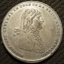 Italy-France 1796 Napoleon Bonaparte Medal (White Metal, 33mm, 12.7gm)