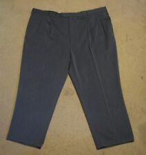 Men's Stafford 52 x 30 dark grey polyester dress pants