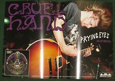 CRUEL HAND 2008 PROMO POSTER IS DEAD 12 X18 PRYING EYES BRIGDE NINE RECORDS