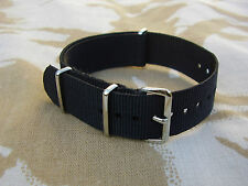 British Army,SAS,SBS,POLICE,SO19,CO19,SWAT - Black G10 NATO Military Watch Strap