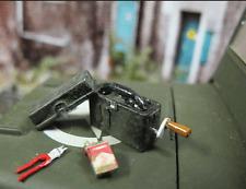 WWII teléfono campo teléfono Field phone metal kit kit accesorios tanques decorativas 1/16