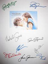 The Notebook Signed Script X9 Ryan Gosling Rachel McAdams Rowlands Allen reprint