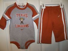 Nike Longhorns Pants One PC Set Baby Boys Girls Size 3 / 6 Months NWT  #34
