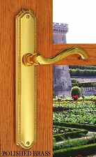 Door Levers & Plates Chateau Passage Hardware Polished Brass Finish
