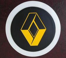 SELF CLING TAX DISC HOLDER FITS any car renault yellow clio grand scenic laguna