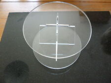 """8 Inch Round Cake Plate Stand Acrylic Cake Decorating 8"""""""