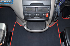 VELOUR CARPET FLOOR MATS SET-BLACK WITH RED  FIT DAF XF 105 2012-2013 AUTOMATIC