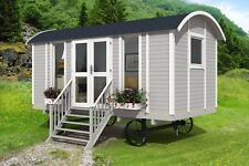 Shepherds hut summer room glamping room 2.4 x 4.8 including wheel system