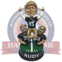 Rudy Daniel Ruettiger Notre Dame Fighting Irish Football Talking Bobblehead NCAA