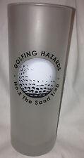 DARTINGTON GOLF GOLFING HAZARDS FROSTED HIGHBALL TUMBLER NO 2 THE SAND TRAP 16 Z