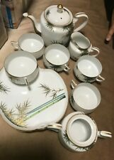 VINTAGE 15 PIECE KOSHIDA  PLATES ,TEA SET -CUPS, HAND PAINTED - JAPAN