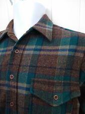 Pendleton Mens Medium Plaid Vtg USA Made Virgin Wool Flannel Shirt