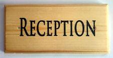 Reception - Plaque / Sign / Gift - Office Hotel Desk Notice Door Work 443