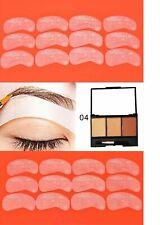 3 Color Eyebrow Powder Waterproof + 24pcs Eyebrow Card Stencil Shaping Makeup 04