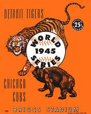 1945 World Series - Tigers Brigg Stadium Program Poster - 8x10 Color Photo
