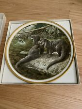 Lenox Collections Animal Decoration Wall Plate with Hanger in box (Otter)