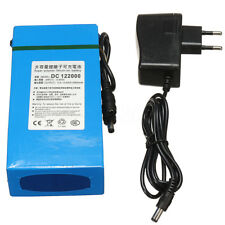 DC 12V 20000mAh Li-ion Super Rechargeable Battery Pack + AC Charger W/ EU Plug