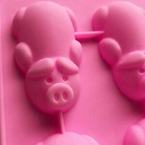 12 Cavity Pigs Silicone Mold Chocolate Cookie Mould Baking Ice Cube Jelly Cake