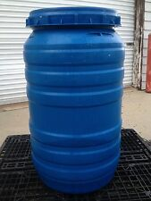 PLASTIC BARREL 55 GAL.- HDPE  Blue Open Top Drum With Screw On Lid
