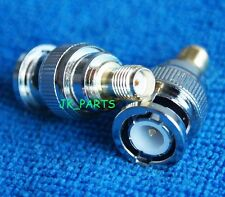 1pc New Adapter BNC plug male to SMA female jack RF connector straight