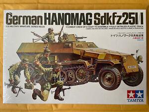 Tamiya 1/35 Scale German Hanomag Sdkfz 251/1 Military Model Kit Tank Vehicle