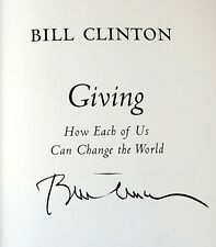 """New ListingPresident Bill Clinton Autographed Book """"Giving"""""""