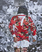 George Best Collage Poster 21x26 cms