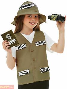 Childs Explorer Kit Boys Girls Safari Zoo Hunter Fancy Dress Costume Book Day