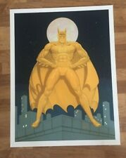 BATMAN LITHOGRAPH THE GOLDEN KNIGHT SIGNED BOB KANE VERY RARE 95/500