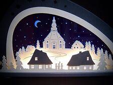 3d LED Arco de luces vidrio acrílico ARCOS seiffener Iglesia 66 x 34cm 10663