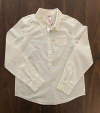 Gymboree GIRLS BEST FRIEND White Button Top Dress Shirt Blouse Size 10 NWT NEW