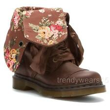 EUC SZ 8 DR. MARTENS 1914 TRIUMPH BROWN WYOMING VICTORIAN FLORAL FOLD BOOTS 39