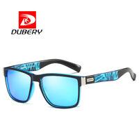 DUBERY Mens Sport Polarized Sunglasses Outdoor Driving Blue Lenses Glasses New