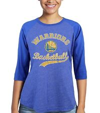 NBA Golden State Warriors Women's 3/4 Sleeve Raglan, Royal color, Durant, Large