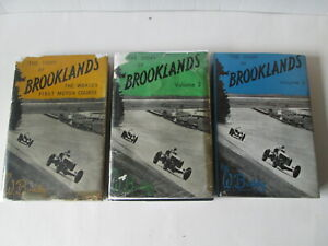 The Story of Brooklands x 3 volumes by William Boddy. Brooklands motor course.