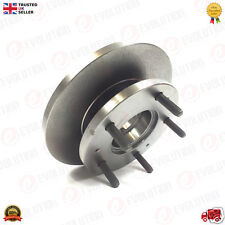 FORD REAR TWIN WHEEL HUB + DISC + ABS RING + STUDS FOR TRANSIT MK7 2006 ON